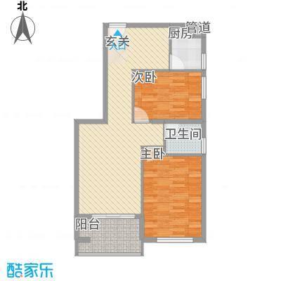 源泉海景公寓76.00㎡户型2室