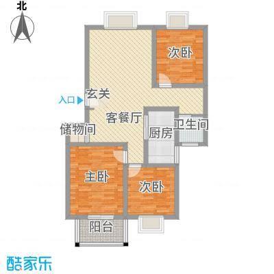 明华欣居园14.00㎡户型3室