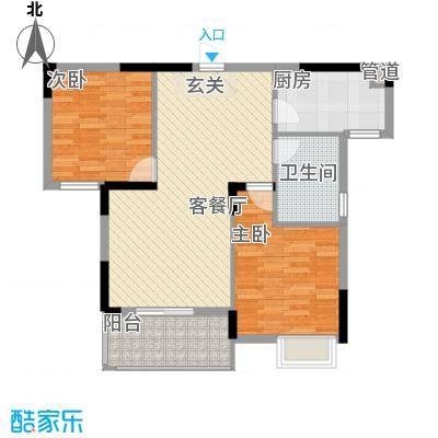 荣滨大厦3143430534c7f01577b001户型2室2厅1卫1厨