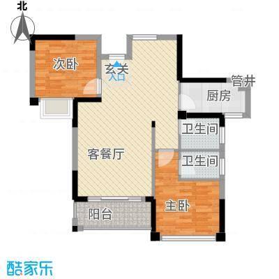 外贸局单位宿舍2-2-2-1-1户型2室2厅2卫1厨