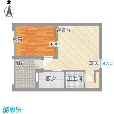 龙湖MOCO中心41.00㎡户型1室