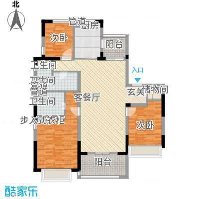 吴月雅境14.76㎡G户型3室2厅2卫1厨