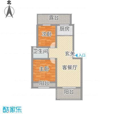 禾祥富华173户型2室2厅1卫1厨