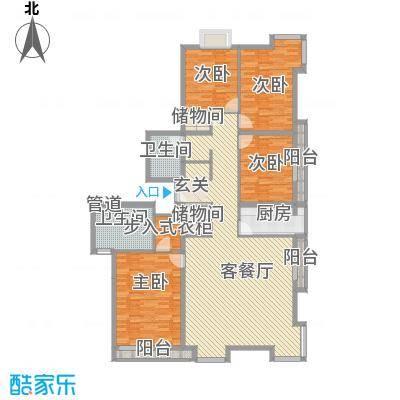 当代名筑16.87㎡15号楼D2户型4室2厅2卫2厨