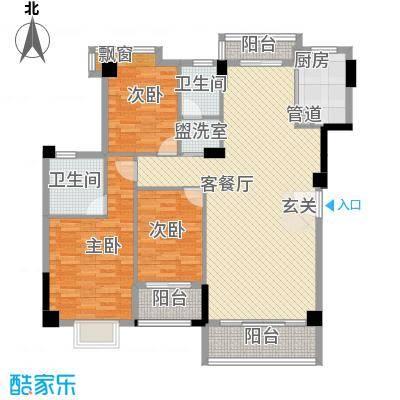 宝成海景苑13.00㎡户型3室