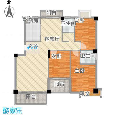 宝成海景苑12.51㎡B户型3室2厅2卫1厨
