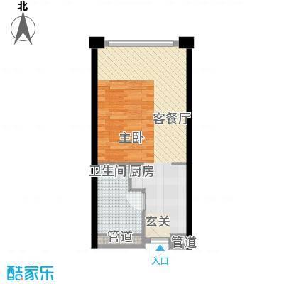 保利世贸公寓51.00㎡一期D栋4―44层B户型1室1卫