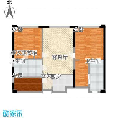 保利世贸公寓153.00㎡一期D栋4―44层D户型3室2厅1卫1厨