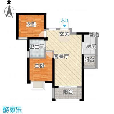 东渡邮局宿舍2-2-2-1-2户型2室2厅2卫1厨