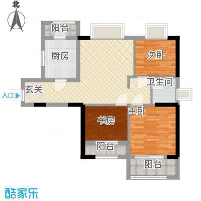 华普大厦户型3室2厅2卫1厨