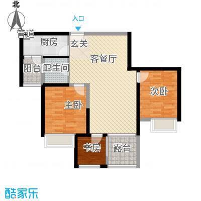 东渡邮局宿舍3-2-1-1-4户型3室2厅1卫1厨