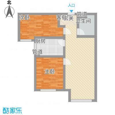 万科仕林苑88.00㎡二期29、30号楼高层标准层B户型2室2厅1卫1厨