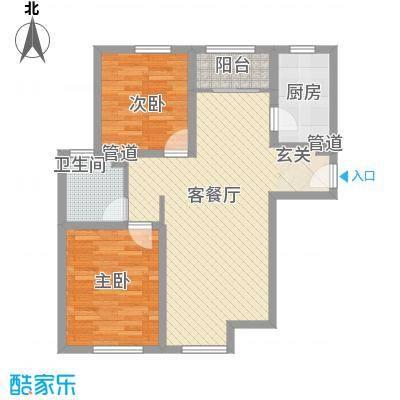 金星公寓户型2室1厅