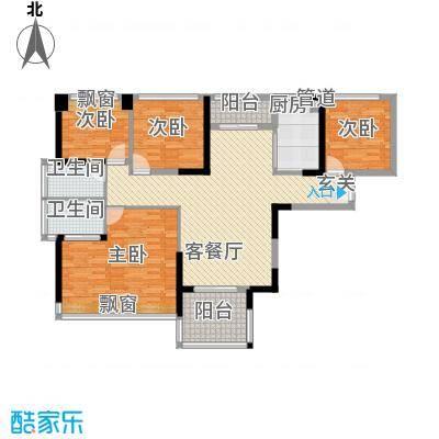 凤雅颂116.20㎡06栋01、04户型4室2厅2卫1厨