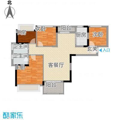 凤雅颂5.41㎡09栋01、04户型4室2厅2卫1厨