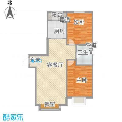 长江杰座户型2室1厅