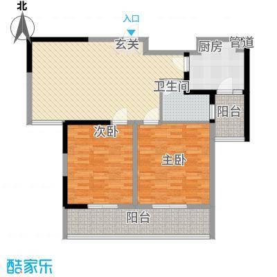 前洲商贸财富中心15.40㎡B户型2室2厅2卫