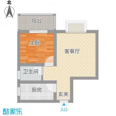 牡丹庄园53.47㎡A户型1室1厅1卫1厨
