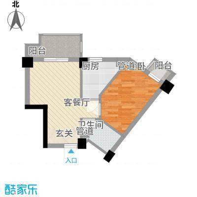佳祥花园42.00㎡户型1室