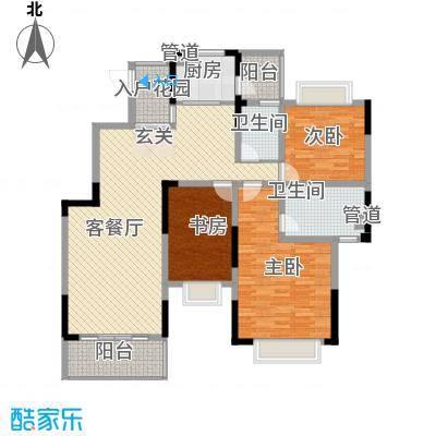 邮电综合楼3-2-2-1-3户型3室2厅2卫1厨