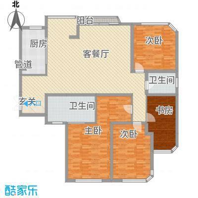 金林湾花园户型3室2厅2卫1厨