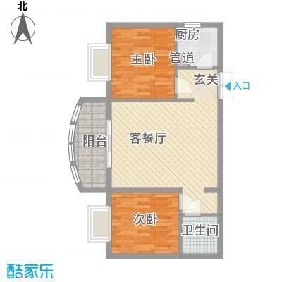 源昌大厦77.00㎡户型2室