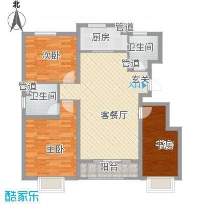 思明农行宿舍3-2-2-1-1户型3室2厅2卫1厨