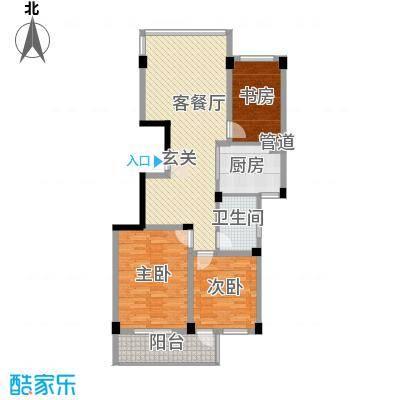 华雅花园2010417152237961户型3室2厅1卫1厨