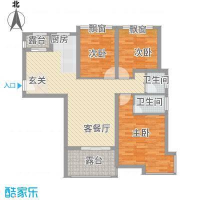 尚东琴畔2010121134322355户型3室2厅2卫1厨