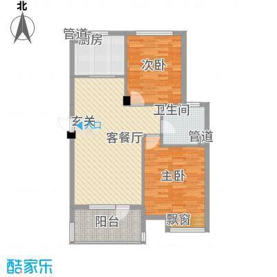 农行宿舍2-2-1-1-4户型2室2厅1卫1厨