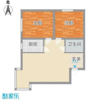 新房绿色家园户型2室