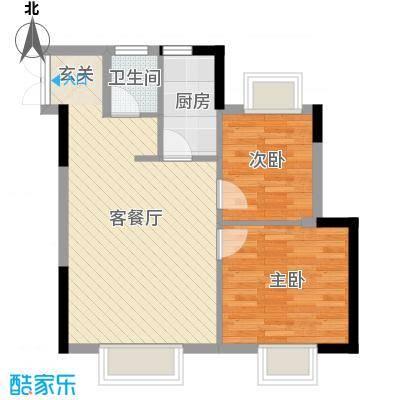 浪漫满屋55.00㎡002户型2室1厅1卫1厨