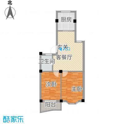 小城春秋户型2室1厅1卫1厨