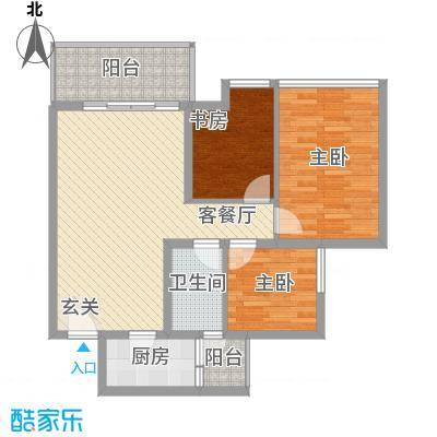 华昌社区31户型3室2厅2卫1厨