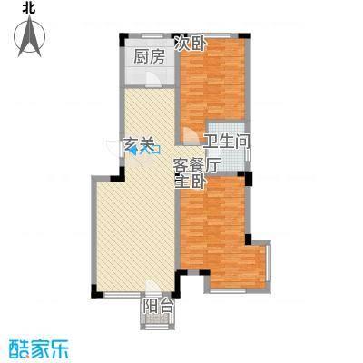 公安宿舍楼17户型2室2厅1卫1厨