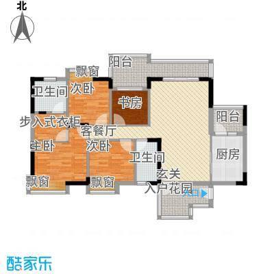 长裕棕榈园145.70㎡裕豪苑6栋7栋01、02单元标准层户型4室2厅2卫1厨