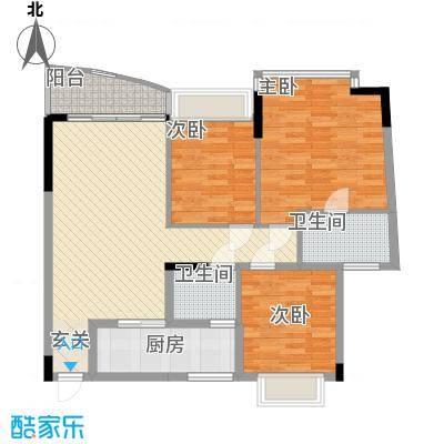 东宝花园18.00㎡户型3室