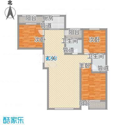 水岸新城8户型3室2厅2卫1厨