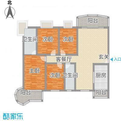 汇泉丽景166.00㎡A1户型4室2厅2卫