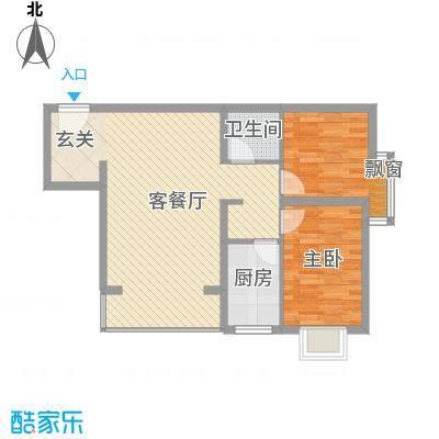 华聚苑81.00㎡户型2室1厅1卫1厨