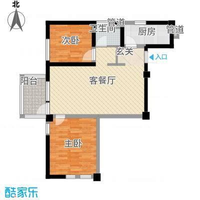 交警宿舍楼20101026101148户型2室2厅1卫1厨