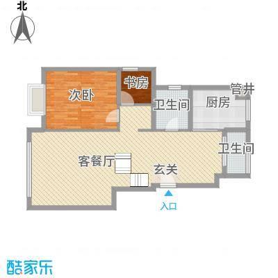 华银城3.00㎡户型2室