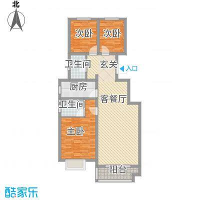 华银城户型3室2厅