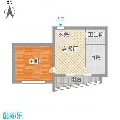 松北之家51.10㎡户型1室1厅1卫1厨
