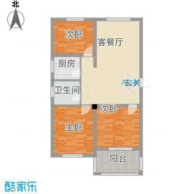 青林嘉园1.50㎡F户型3室2厅1卫1厨