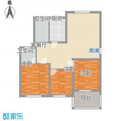 青林嘉园117.40㎡G五层户型3室2厅2卫1厨