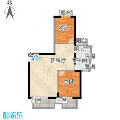 浦南花园1#、2#、3#楼3号楼27层12单元户型2室2厅1卫1厨