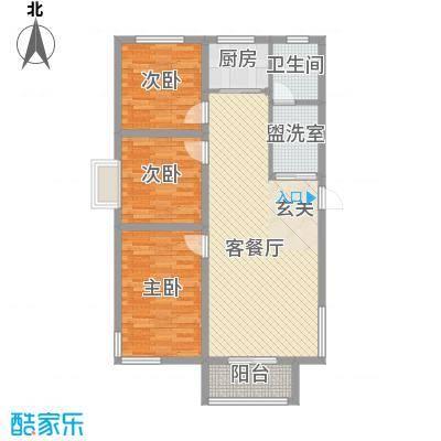 学府世家(金州)1.78㎡学府世家1#、2#楼魁星闲居户型3室2厅1卫1厨