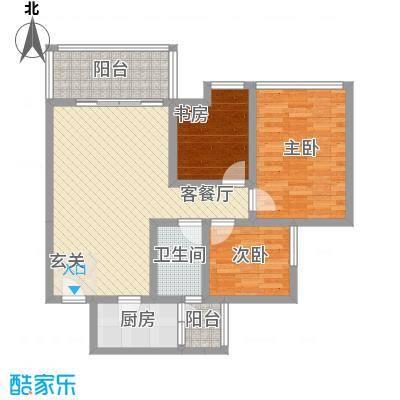 白鹤岩31户型3室2厅2卫1厨