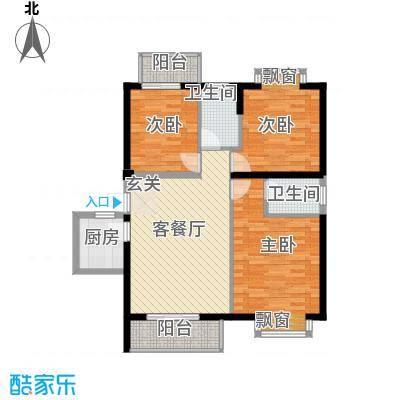 浦南花园113.00㎡户型3室